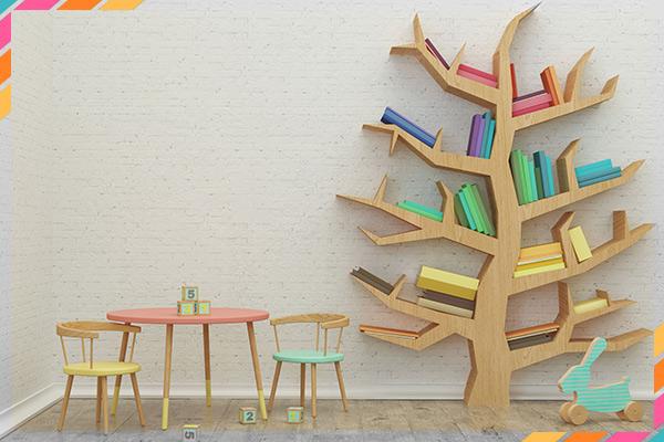 מדפים מקוריים לעיצוב חדר הילדים